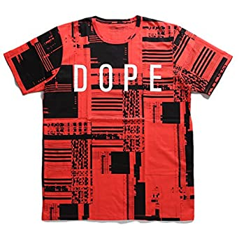 【D0316,T119】 ドープ DOPE Tシャツ 半袖 チェック柄 機械総柄 ブランド