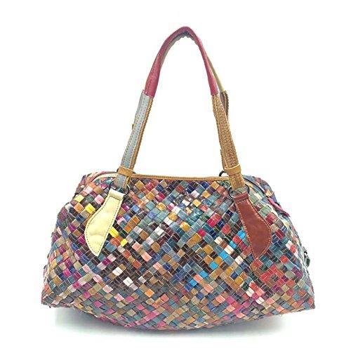 Sacs à sacs bandoulière Valises Voyage et mouton à Peau Plover multicolore de main Femmes Sacs qOwFw8UnI