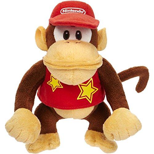 World of Nintendo 88807 Diddy Kong Mario Bros U Plush