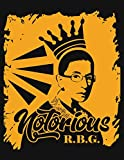 img - for Notorious RBG - Orang Crown Notebook: College Ruled Lined Notebook book / textbook / text book