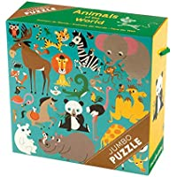 """Mudpuppy Animals of the World Jumbo Puzzle, 25 Jumbo Pieces, 22""""x22"""" – For Kids Age 2+ - Colorful Illustrations of…"""