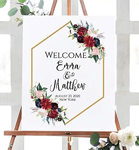 Dozili Welcome Wedding Sign Template Printable Welcome Sign
