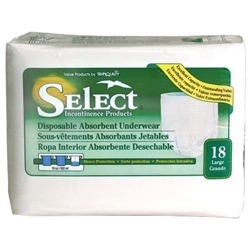 Amazon.com: Select Disposable Absorbent Underwear - Medium 80/cs: Health & Personal Care