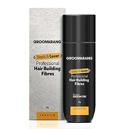 Groomarang Duck & Cover - Fibras profesionales de queratina para reconstrucción capilar - 28 g