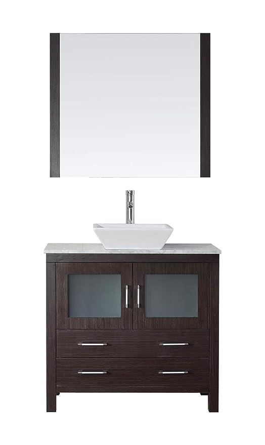 Virtu Usa Dior 32 Inch Single Sink Bathroom Vanity Set In Espresso