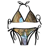 Unique Christmas Tree Padded Top Bottom Bikini Swiming Suit Two Piece Suits