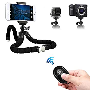 Tripsky Adjustable Mini Cell Phone Tripod,flexible Phone Tripod For Any Smartphone,iphone,with Universal Clip & Remote 1