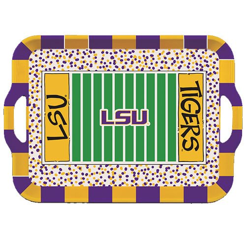 Collegiate Melamine Handled Serving Tray (LSU Tigers)