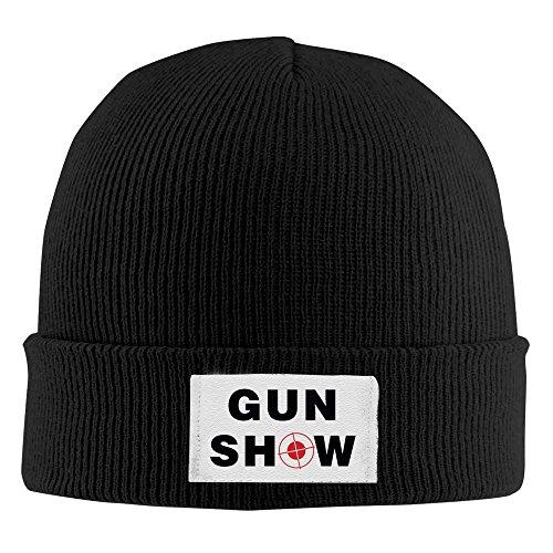 Gun Show Acrylic Knit Beanie Cap Black ()