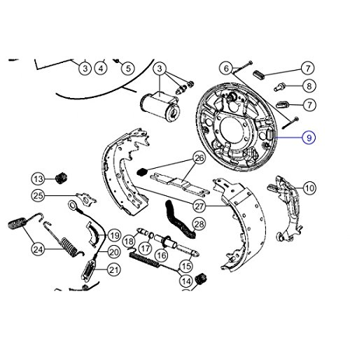 Mopar 5017761AA Backing Plate