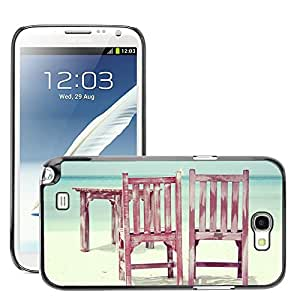 Super Stella Slim PC Hard Case Cover Skin Armor Shell Protection // M00421290 Beach Chairs Sun Sea Summer Holiday // Samsung Galaxy Note 2 II N7100