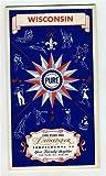 PURE Oil Company Wisconsin Road Map Rand McNally 1941
