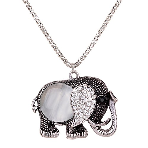 Elephant Chain Pendant and Nec...