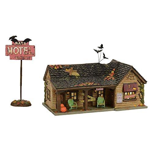 (Department 56 Village Halloween Bat's Motel Lit House)