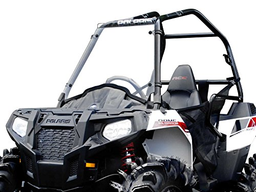 SuperATV Heavy Duty Scratch Resistant Full Windshield for Polaris Sportsman Ace / 900 (2014+)