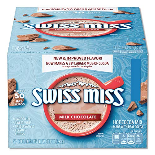 Milk Chocolate Swiss Miss Hot Cocoa Mix 0.73 Ounces Envelopes 60 Count (Best Swiss Dark Chocolate)