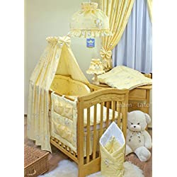 Yellow Elephants Girl's Crib Bedding 11 Piece Set