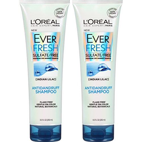 L'Oreal Paris Hair Care Ever Fresh Antidandruff Shampoo Sulfate Free, 2 Count (Shampoo Hair Dandruff Care)