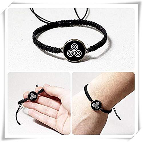 - Pink rose Celtic Triple Spiral Bracelet, Celtic Jewelry, Black and White Resin Bracelet ,Triskele Bracelet Unisex Bracelet ,Irish Celtic Tribal Jewelry