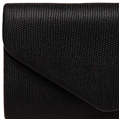 Piel Para clutch Bolso Ta521 Serpiente Mano Negro Caspar Mujer Estampado De XxUwRI8