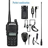 BaoFeng UV-82 8W High Power Dual Band Radio: 136-174mhz (VHF) 400-520mhz (UHF) Amateur (Ham) Portable Two-Way radio with additional TID battery Program Cable NA-771