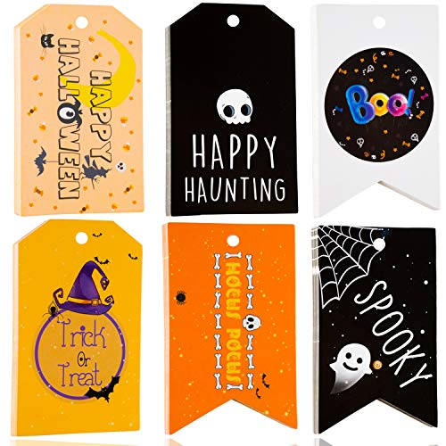 Small Halloween Gifts (Halloween Gift Tags - 60 Pieces Halloween Favor Tags - Trick or Treat Tags - Halloween Treat Tags - Halloween Party Tags - Boo Gift Tags Perfect Decorations for Halloween)
