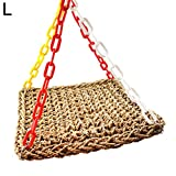 Gaweb Durable Hammock Stand Toy Bird Swing Toy with Colorful Hanging Chain for Parrot Budgie Parakeet Cockatiel Conure Lovebird Finch Cockatoo African Grey Cage Perch Stand