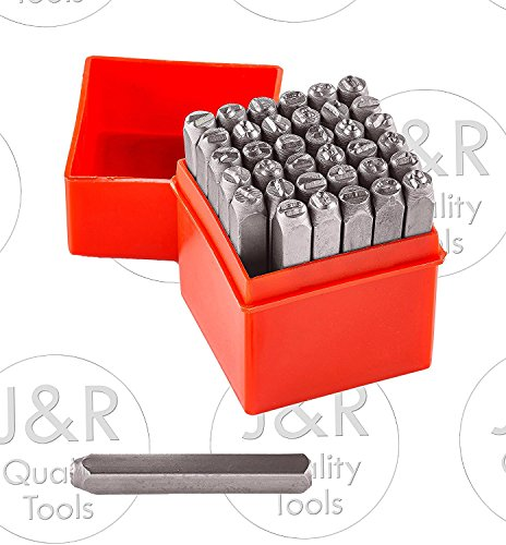 - Vector Number & Capital Letter Punch Set 36 Pc (6mm 1/4
