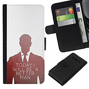 Supergiant (Today Better Man Suit Office Inspiring) Dibujo PU billetera de cuero Funda Case Caso de la piel de la bolsa protectora Para Samsung Galaxy A3 / SM-A300
