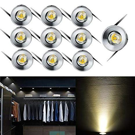 10X 1W LED Einbaustrahler Einbauleuchte Einbauspot Schwenkbar Warm//weiß