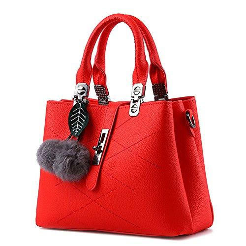 Sacs Main à Femme Rouge à Coréen style Messenger Grande Capacité Pour Sac Rouge Bandoulière Vin Aw5qWXxIIP