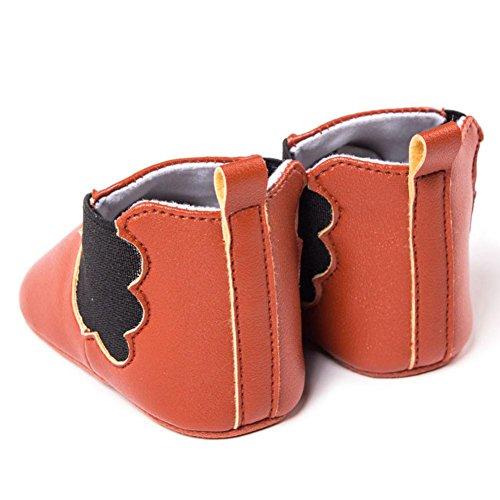 Igemy 1 Paar Anti-Rutsch Schuhe Stiefel Neugeborene Kleinkind Baby Säuglinge Mädchen Jungen weich Braun