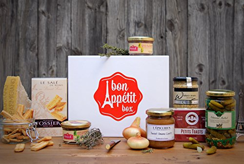 Gift Box Aperitif - Gourmet French Chic Gift Basket - Paris Aperitif Box