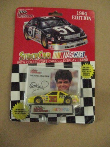Michael Waltrip 1/64 scale diecast replica stock car with collectible card 1994 Edition ()