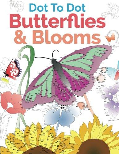 Dot To Dot Butterflies & Blooms: A Relaxing & Inspirational Dot-To-Dot Colouring Book