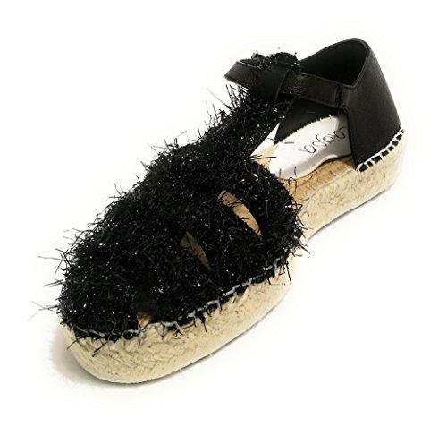 Sandalo Pelle Donna Ds18la01 In Modello Col Corda Valencia Scarpe Nero Fondo Lagoa ZpxEEn