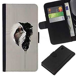 Nativo Medicina misterioso indio- la tarjeta de Crédito Slots PU Funda de cuero Monedero caso cubierta de piel Para Sony Xperia Z1 L39