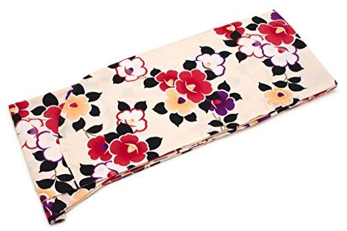 インストール船員満足させる袴用二尺袖着物 ベビーピンク 赤 紫 椿 つばき 花 小振袖
