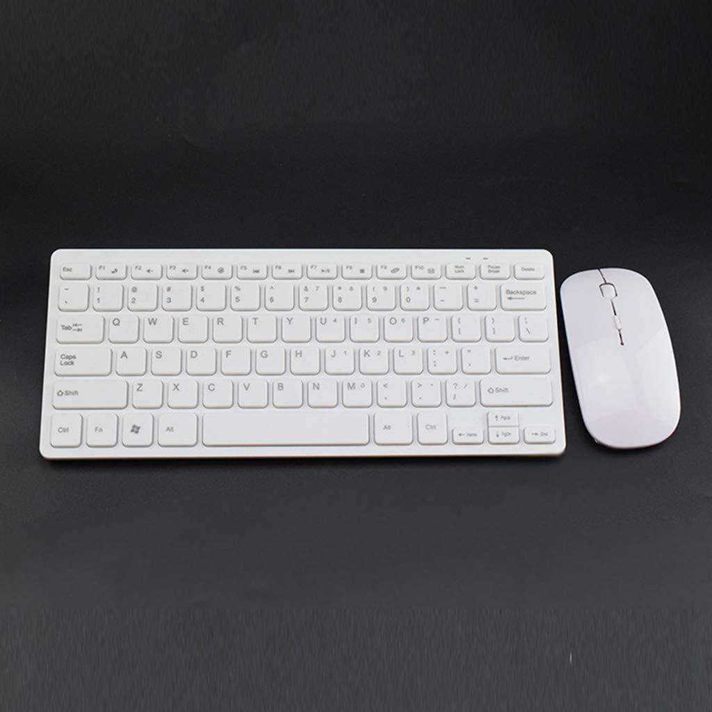 YUEYU Wireless 2.4GHz Mini Keyboard Ultra-Thin Mouse Mice Set for Desktop Laptop