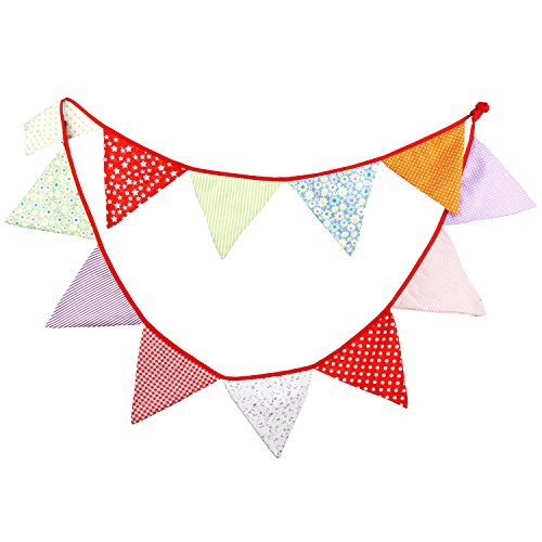 Candy Tone Fabric Flag Buntings Garlands Wedding Birthday Party Decoration