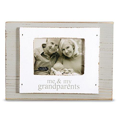 Mud Pie Distressed Gray Painted Wood Block Frame Grandparents 3