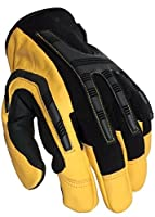Mechanics Heavy Duty Glove, Water Resistant Leather, Impact Resistant Knuckle Guard