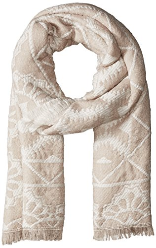 Jessica Simpson Scarf - Jessica Simpson Women's Patterned Oblong Scarf with Raw Edge, cream/natural, One Size