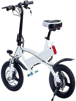 JXH Plegable E-Bici, Bicicleta eléctrica de 14 Pulgadas para ...