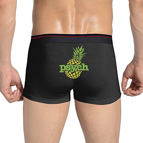 (Mkajkkok Psych Pineapple Men's Underwear Cotton Stretch Panties Underwear.)