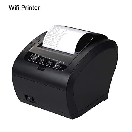 Amazon.com: POS Receipt Printer WiFi 80mm Direct Thermal ...
