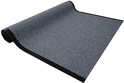 Granat Läufer Col. 40 grau Schmutzfangläufer Meterware 90 cm breit nach Maß Teppich Brücke Flur in vielen Längen und Breiten lieferbar rutschfest hohe Schmutzaufnahme saugfähig und Fußbodenheizung geeignet
