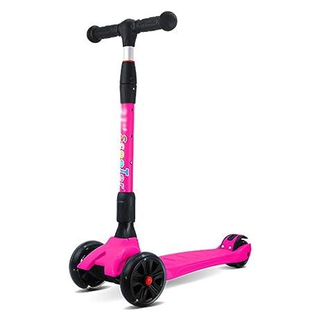 Patinete- Scooter para niños Plegable Ampliar Rueda de ...