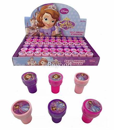 (New! (60ct) Disney Sofia the First Princess Stamps Stampers Self-inking Party Favors- Full Box!)
