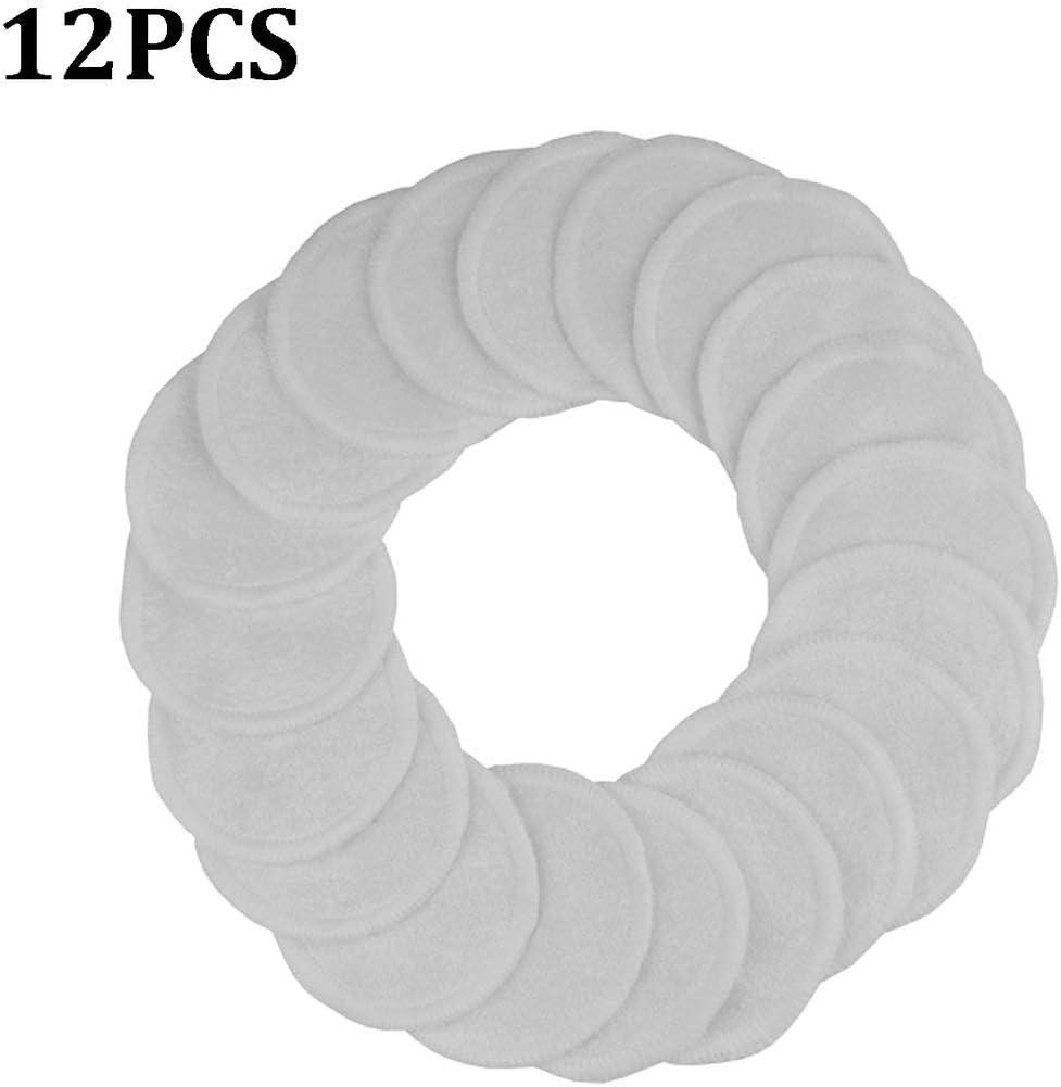 Beige Tampons D/émaquillants R/éutilisables Lingettes De Nettoyage En Coton Lavables Trois Couches Bambou Doux Avec Sac De Lavage En Maille Togames-FR